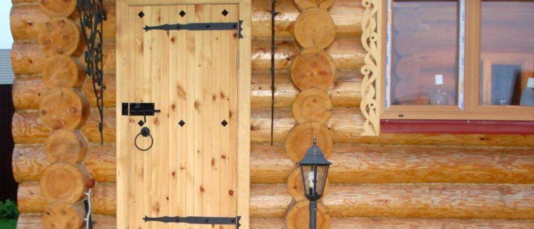 входная дверь в баню